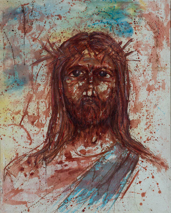 Art Print featuring the painting Jesus Christ by Thomas Lentz