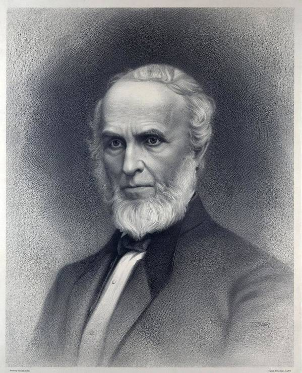 Historical Print featuring the photograph John Greenleaf Whittier 1807-1892 by Everett