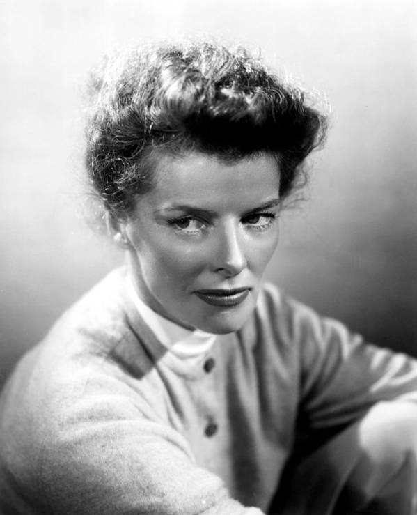 1950s Portraits Print featuring the photograph Summertime, Katharine Hepburn, 1955 by Everett