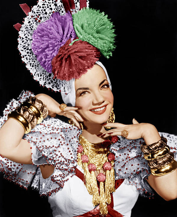 1940s Portraits Print featuring the photograph Carmen Miranda, Ca. 1940s by Everett