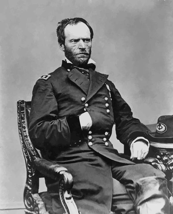 General Sherman Print featuring the painting General William Sherman by War Is Hell Store