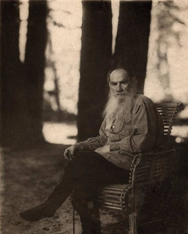 Historical Print featuring the photograph Leo Tolstoy 1828-1910 Russian Novelist by Everett