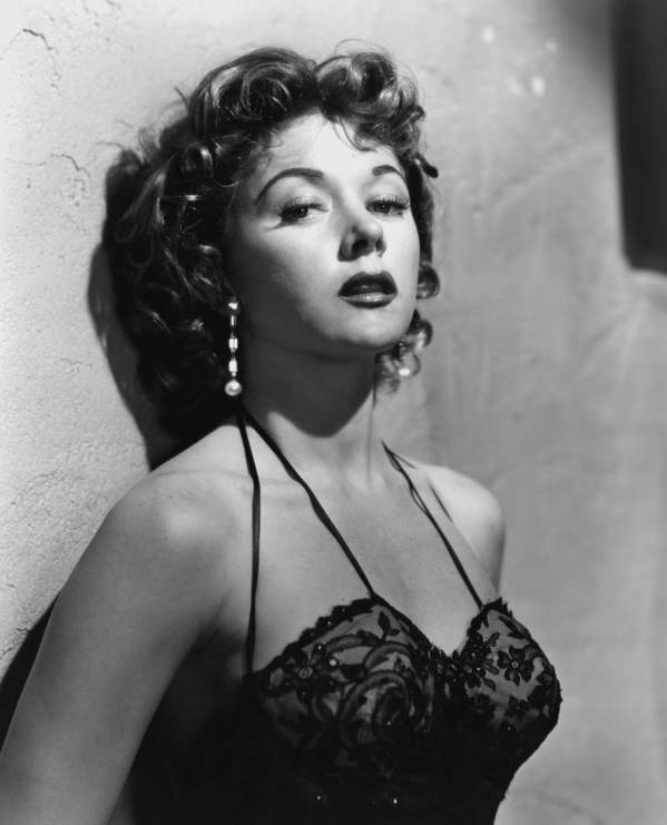 1950s Portraits Print featuring the photograph Naked Alibi, Gloria Grahame, 1954 by Everett