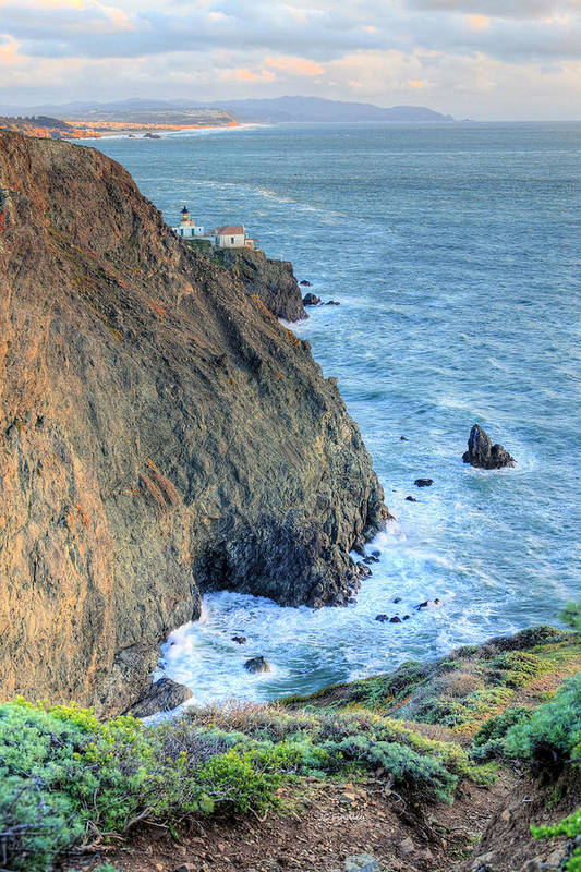 Bonita Point Print featuring the photograph Cliffs by JC Findley