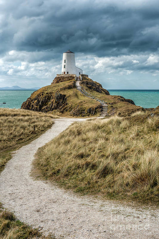Anglesey Print featuring the photograph Lighthouse Path by Adrian Evans