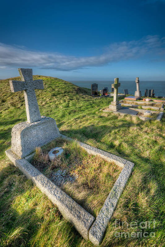 Anglesey Print featuring the photograph Llanbadrig Cemetery by Adrian Evans