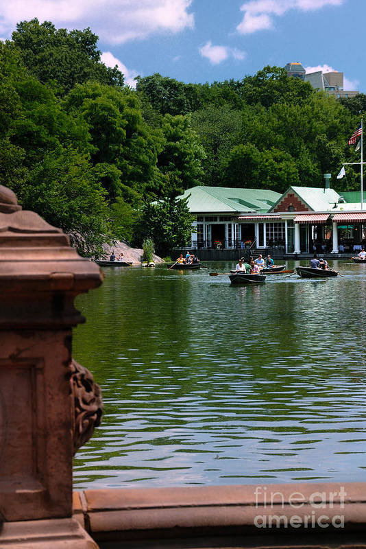 Boat Print featuring the photograph Loeb Boathouse Central Park by Amy Cicconi