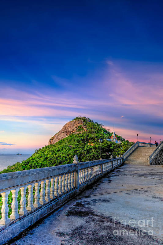 Chopsticks Hill Print featuring the photograph Temple Sunset by Adrian Evans