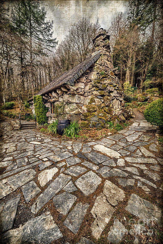 Betws Y Coed Print featuring the photograph Ugly Cottage by Adrian Evans