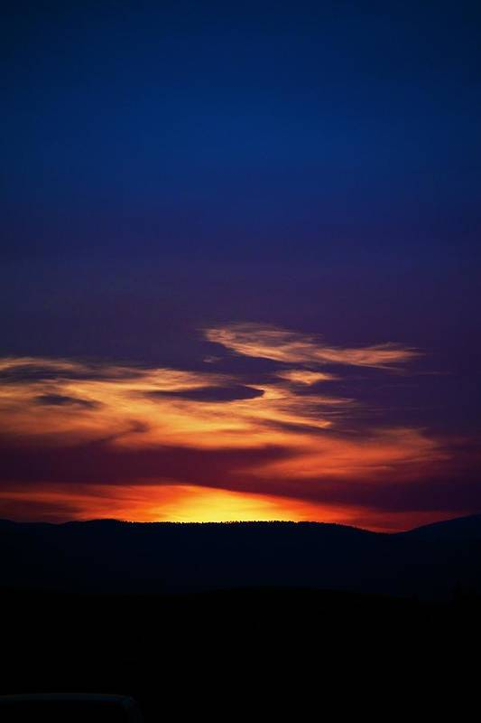 Sunset Print featuring the photograph Flame Out by Kevin Bone