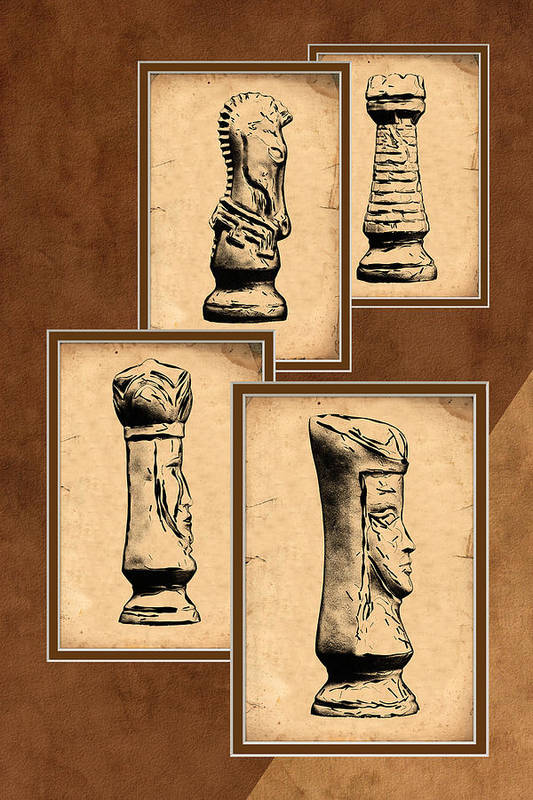 King Print featuring the photograph Chess Pieces by Tom Mc Nemar