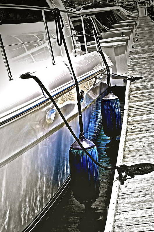 Boat Print featuring the photograph Sure-thing Boat by Gwyn Newcombe