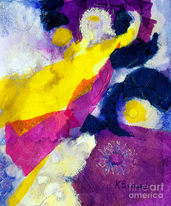 Paintings Print featuring the painting Angels Surround Me by Kathy Braud