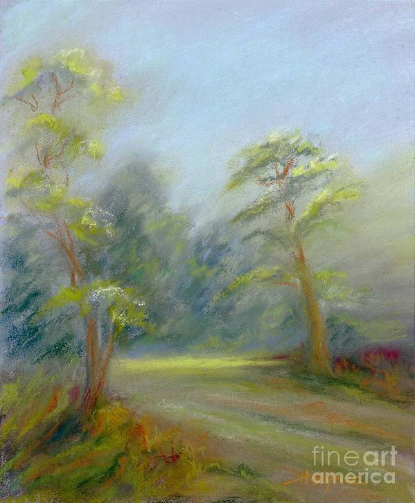 Early Spring Print featuring the painting Early Spring by Addie Hocynec