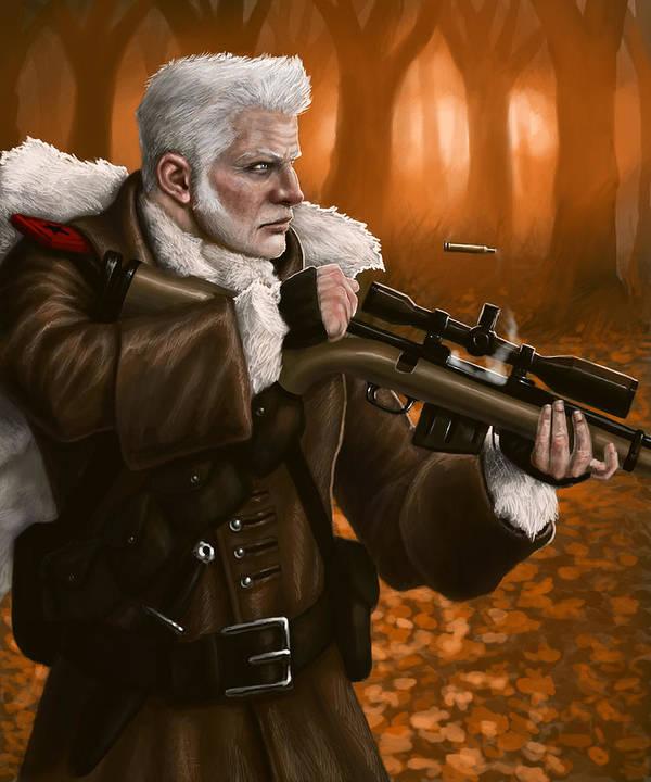 Forest Print featuring the digital art Rifleman by Mark Zelmer