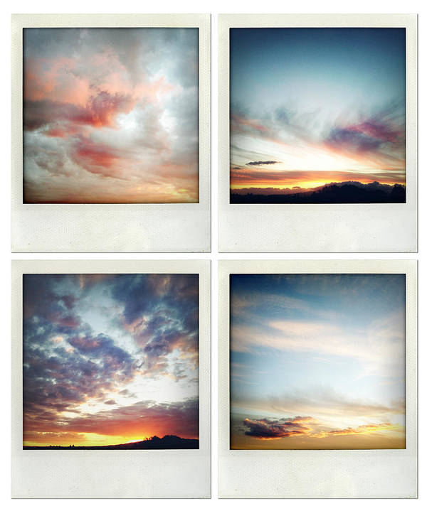 Cloud Print featuring the photograph Skies by Les Cunliffe
