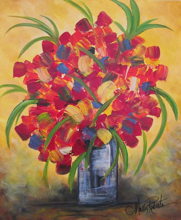 Flowers Print featuring the painting The Vase by Molly Roberts