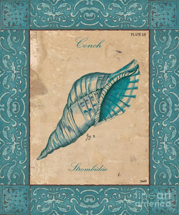 Coastal Print featuring the painting Verde Mare 2 by Debbie DeWitt