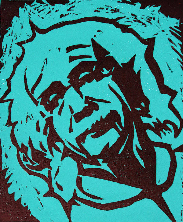 Lino Print featuring the photograph Einstein 2 by William Cauthern