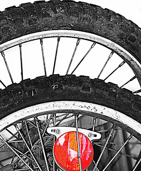 Elm Print featuring the photograph Big Wheels Keep On Turning by Jerry Cordeiro