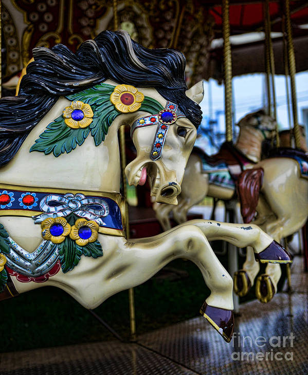 Carousel Print featuring the photograph Carousel Horse 5 by Paul Ward