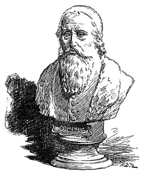 Amos Print featuring the photograph John Amos Comenius by Granger