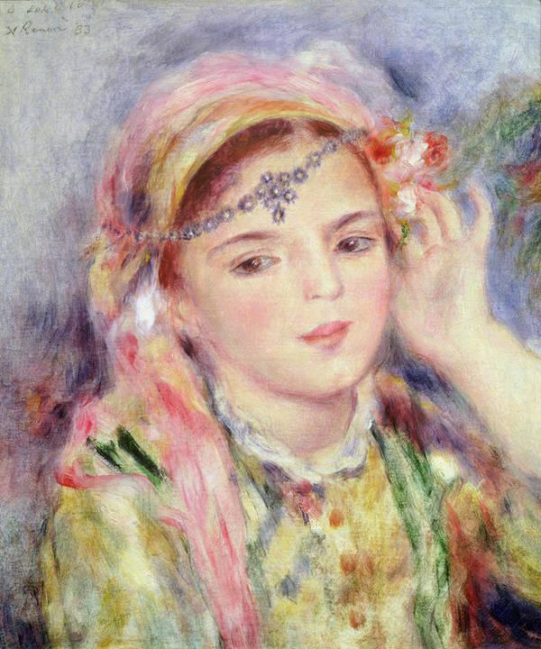Algerienne Print featuring the painting L'algerienne by Pierre Auguste Renoir