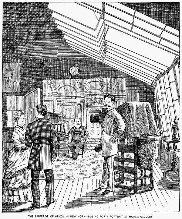 1876 Print featuring the photograph Photography Studio, 1876 by Granger