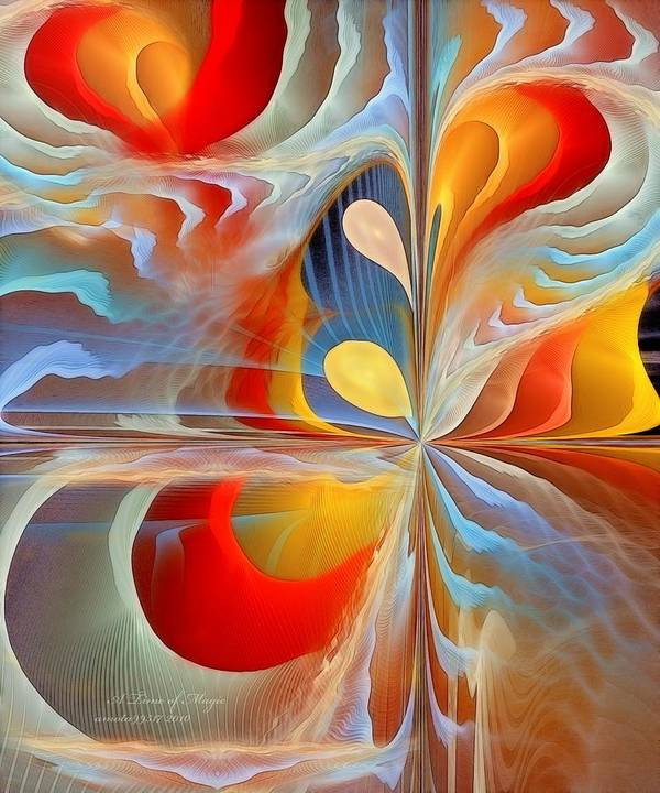 Fractal Print featuring the digital art A Time Of Magic by Gayle Odsather