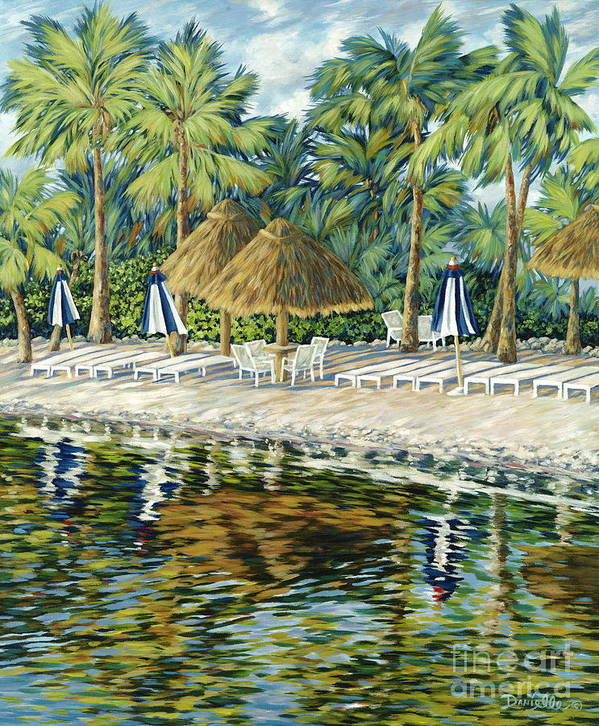 Key Largo Print featuring the painting Buccaneer Island by Danielle Perry