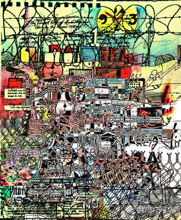 Industrial Art Print featuring the drawing Industrial Complex by Andy Mercer