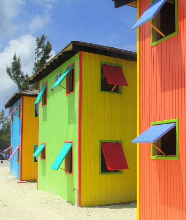 Caribbean Corner Print featuring the photograph Back Of Cabins 2 by Randall Weidner