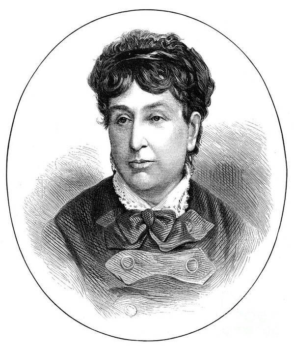 1876 Print featuring the photograph George Sand (1804-1876) by Granger