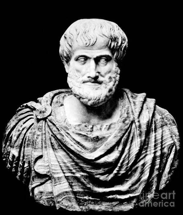 History Print featuring the photograph Aristotle, Ancient Greek Philosopher by Omikron