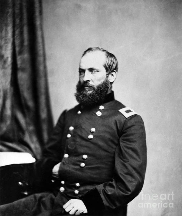 Government Print featuring the photograph Major General Garfield, 20th American by Chicago Historical Society