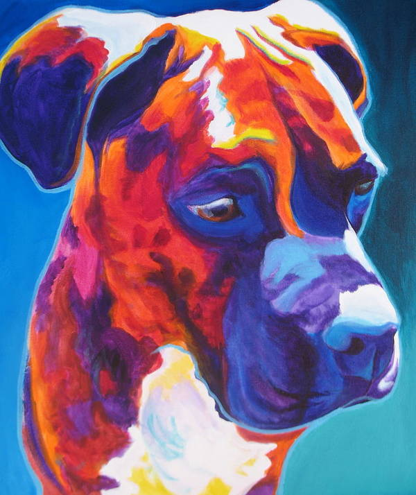 Dawgart Print featuring the painting Boxer - Jax by Alicia VanNoy Call