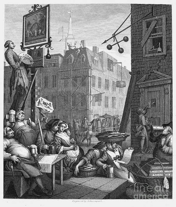 18th Century Print featuring the photograph Hogarth: Beer Street by Granger