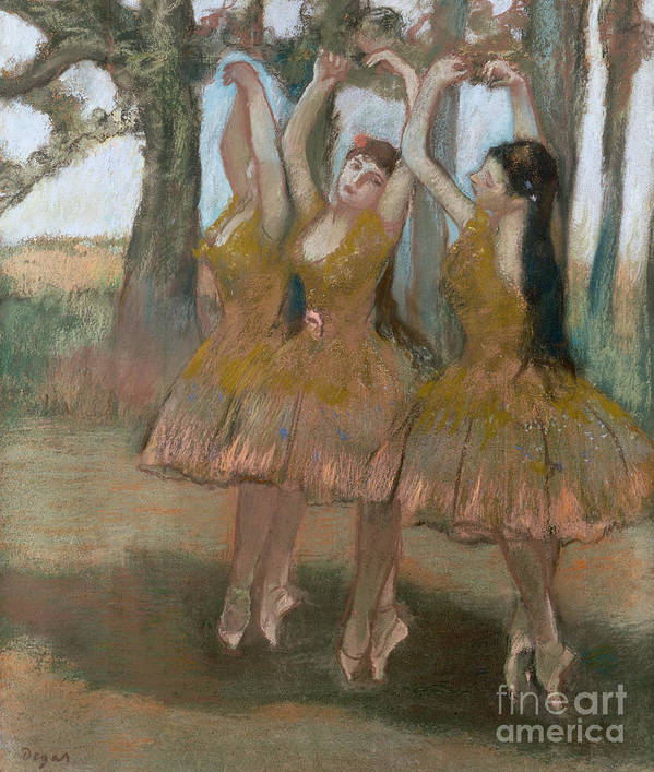 The Greek Dance Print featuring the painting The Greek Dance by Edgar Degas