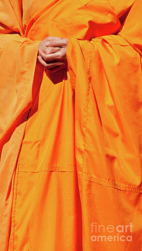 Buddhist Monk Print featuring the photograph Buddhist Monk 02 by Rick Piper Photography
