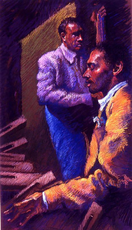 Jazz Print featuring the pastel Jazz by Ellen Dreibelbis