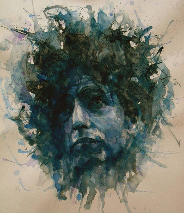 Bob Dylan Print featuring the painting Bob Dylan by Paul Lovering