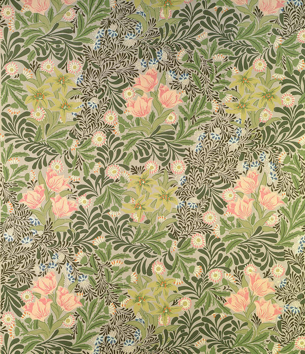Arts And Crafts Movement Print featuring the tapestry - textile Bower Design by William Morris