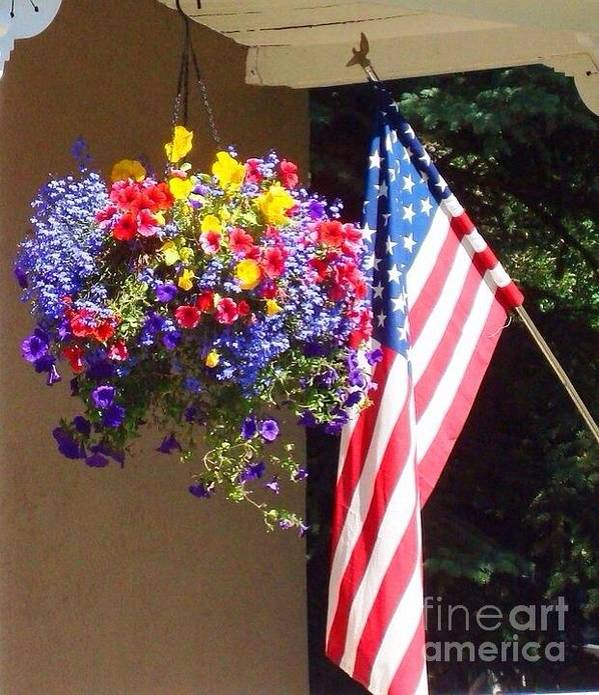 4th Of July Print featuring the photograph Colorful Pride by Trisha Buchanan
