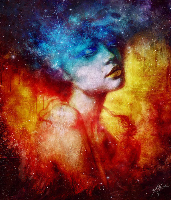 Portrait Print featuring the digital art Revelation by Mario Sanchez Nevado