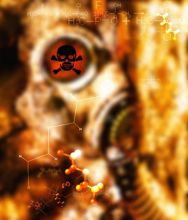 Terrorism Print featuring the photograph Chemical Warfare by Mehau Kulyk