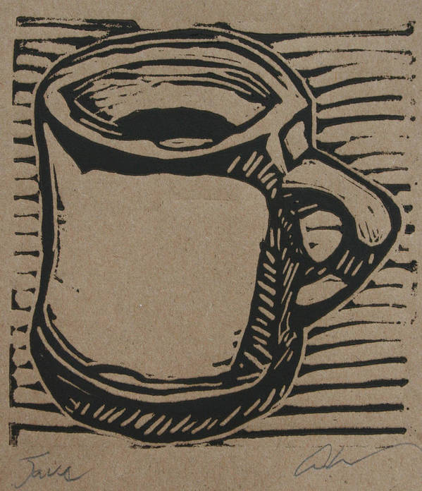 Java Print featuring the drawing Java by William Cauthern