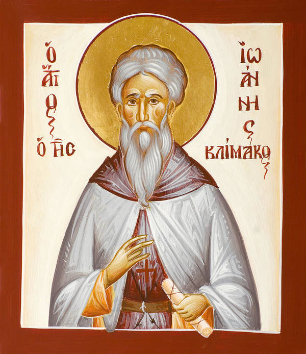 St John Climacus Print featuring the painting St John Climacus by Julia Bridget Hayes