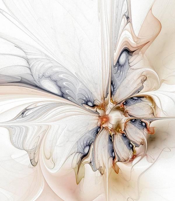 Digital Art Print featuring the digital art Iris by Amanda Moore