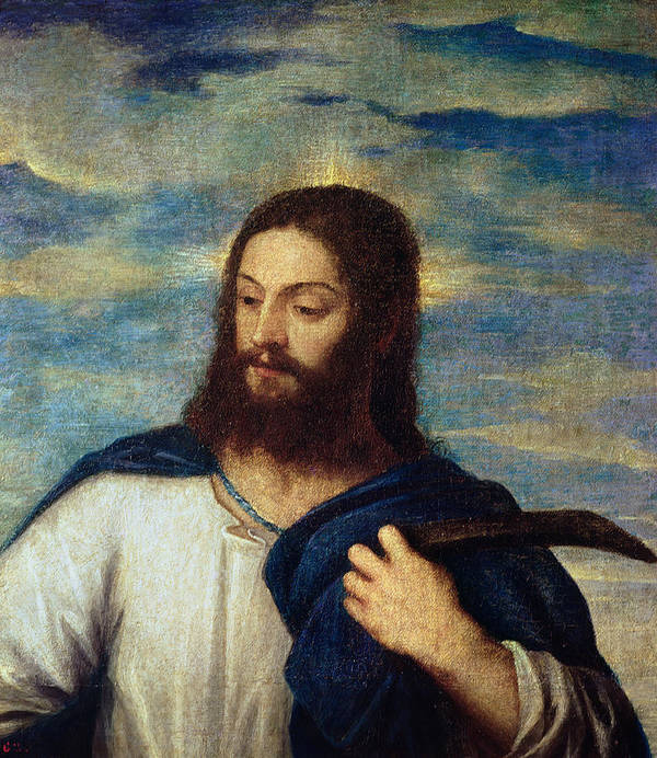 The Print featuring the painting The Savior by Titian