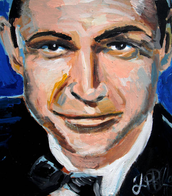 James Print featuring the painting James Bond by Jon Baldwin Art